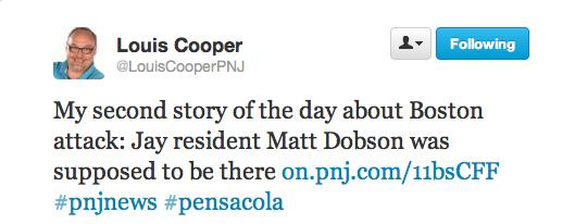 Louis Cooper Tweet