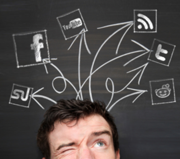 social media confusion man