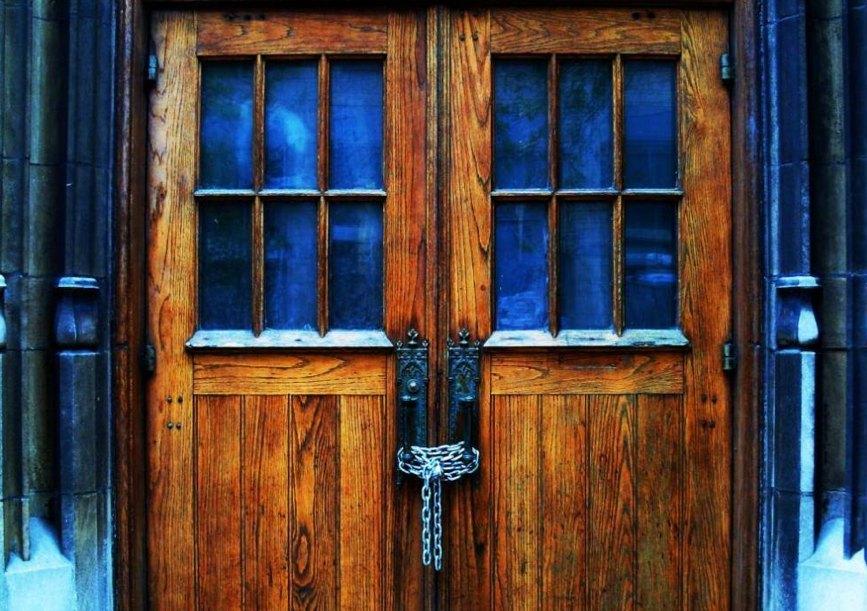 closed church doors