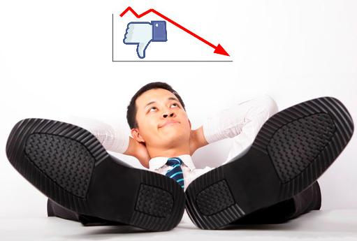 Lazy feet up Facebook